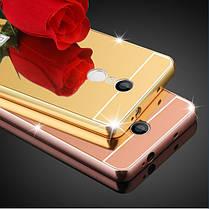 Роскошные Покрытие кадра Зеркало задней стороны обложки случая бампера кожи для Xiaomi редми Примечание 4, фото 2
