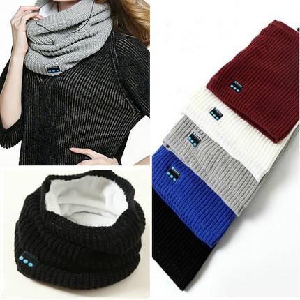 Беспроводная связь Bluetooth наушники шарф зимой на открытом воздухе музыка беспроводной теплый шарф шейный платок с микрофоном, фото 2