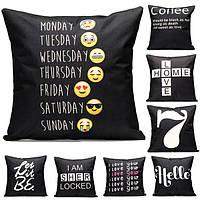 43x43см черный английский хлопок белье наволочка домашний диван-кровать сиденье автомобиля подушки декор письмо моды