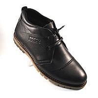 Кожаные зимние мужские ботинки WinterkingZ Black MED Rosso Avangard черные, фото 1