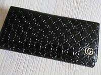Модный кошелёк Gucci экокожа черный