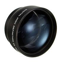 58мм 2x увеличение телеобъектив для Canon DSLR камеры Pentax Nikon ЭОС, фото 2
