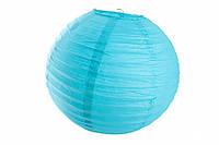 Бумажный подвесной шар бирюзовый, 45