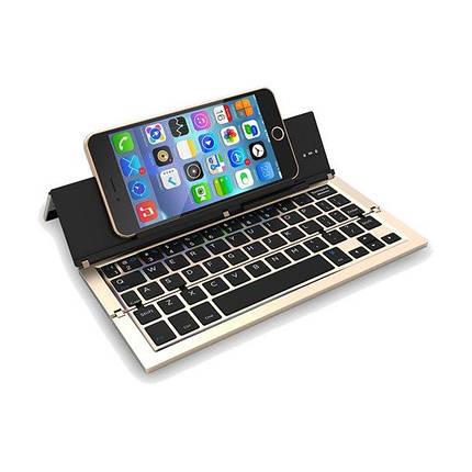 NBC F18 Портативная Складная Металлическая Беспроводная связь Блютуз Клавиатура для устройств на андроид iOS и для и для Windows, фото 2