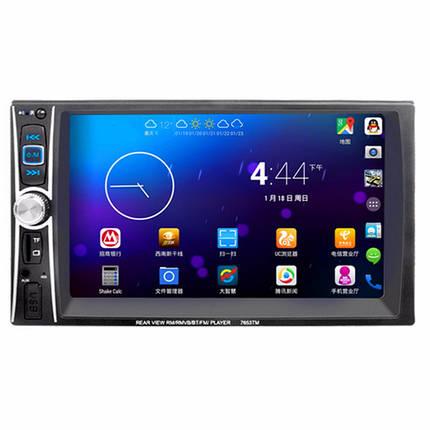 7653 7 дюймов 2 DIN в тире сенсорный экран Bluetooth стерео автомобиля MP5-плеер FM-USB Окс камеры, фото 2