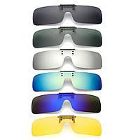 UV400 поляризованный cilp на солнцезащитные очки вождения езда ночного видения линзы для близорукости очки