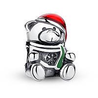 """Шарм Pandora Style (стиль Пандора) """"Рождественский мишка"""""""