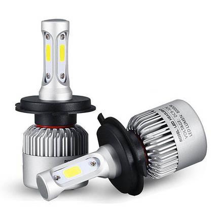 Пара 36W 6500K 8000LM H11 H7 H4 HB3 HB4 COB LED Основная фара Лампа Белая, фото 2