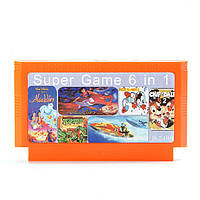 6 в 1 8 бит игра патрона Aladdin 2 Феликсом против канистру для NES Нинтендо