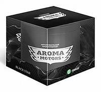 Grass Ароматизатор гелевый «Aroma Motors» Black Star в блистерной упаковке (круглый) 100мл