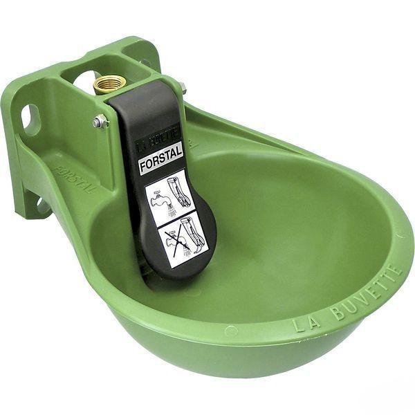 Поилка чашечная пластиковое с трубчатым клапаном для лошадей Forstal La Buvette Франция