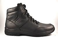Кожаные зимние мужские черные ботинки Rosso Avangard Lomerback Black Night черные, фото 1