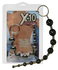 Анальні кульки X-10 Beads чорні