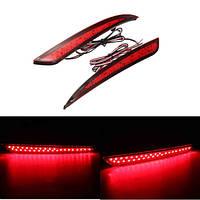 2pcs красный линзы Отражатель задний задний фонарь LED бампер тормоза стоп-сигнал для Ford Fusion 13-15