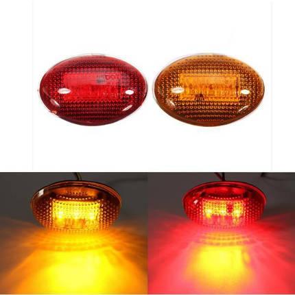 Желтый красный прозрачные линзы LED боковые габаритные огни для комплекта пикап Ford F-350 серии, фото 2