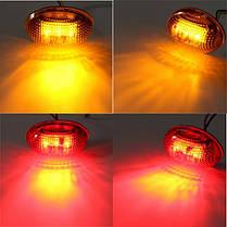 Желтый красный прозрачные линзы LED боковые габаритные огни для комплекта пикап Ford F-350 серии, фото 3