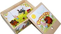 """Деревянные кубики, развивающая игрушка """"Винни Пух"""""""