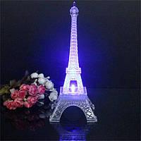 Мини-изменение цвета Эйфелева башня ночью свет LED декор спальни бюро стол лампы