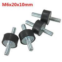 4шт m6x20x10mm резиновый амортизатор парный заканчивается резиновые крепления вибрации изолятор монтирует 1TopShop