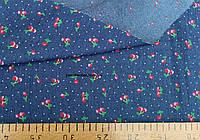 Джинсовая ткань рубашечная (вишня)