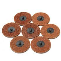50 штук 3 дюйма 75мм рулон замок шлифовальной диск установлен наждачной бумагой грубые диски, фото 2