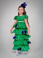 Карнавальный костюм Елка Царская с синим декором