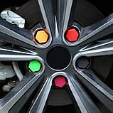 Захисні силіконові ковпачки на колісні гайки 21 мм червоні, фото 5