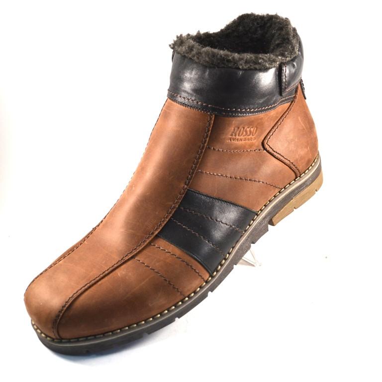 91cf684d1564 Купить зимние мужские ботинки кожаные черные Rosso Avangard.  294 ...