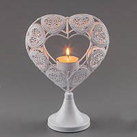 """Свадебный подсвечник """"Сердце"""", оригинальные подсвечники для свадебных свечей"""