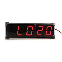 Простые автомобильные LED часы с термометром светящая цифровые LED часы