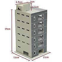В масштабе 1: 100 макет окрашены жилой калибровочная модель поезда для песочнице, фото 3