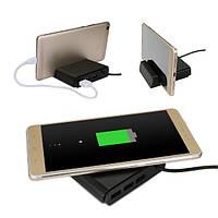 3 в 1 многофункциональный держатель мобильного беспроводного ци зарядное устройство телефона стенд 3 USB порт USB зарядное устройство