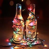 Рождественские красочные LED проса огни Рождественская елка украшения огни партия pecor вспышки свет шнура