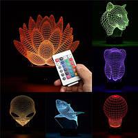 3d изменение цвета LED настольный настольная лампа ночь свет рождественский подарок удаленного акриловые USB