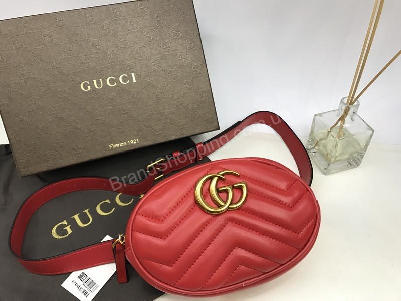 Стильная сумка на пояс бананка Gucci натуральная кожа 1529 - Trendshops в  Харькове 1c473e75afeb3