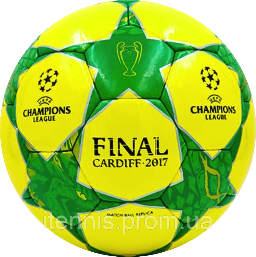 Футбольный мяч Final Cardiff 2017 Жел./Зел.