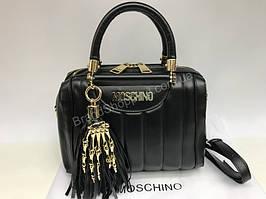ХИТ! Мега крутая сумка Moschino Lux черная 1537