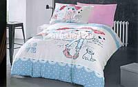 Детское полуторное постельное белье с девочкой