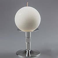 Красивая свадебная свеча в форме белого шара