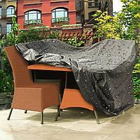 2 размер черный полиэстер ПВХ водонепроницаемый диван стол диван покрытия на открытом воздухе сад мебель для дома декор