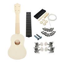 21 дюймов Необычный деревянный укулеле с музыкальными аксессуарами для гитары DIY