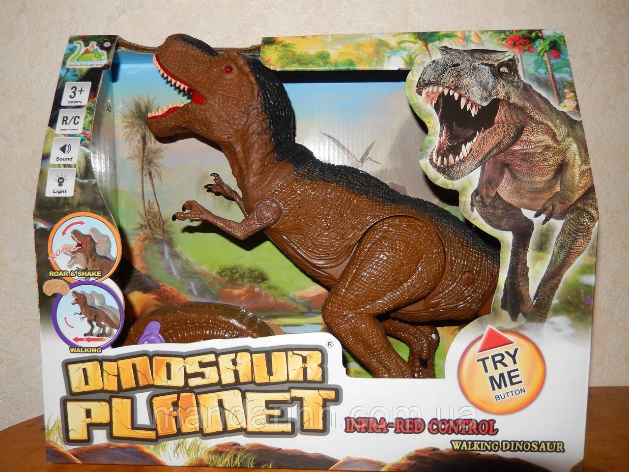 Динозавр на радіокеруванні RS 6123. Ходить. Крутить головою. Світло, Звук. Розмір 30см на 52см