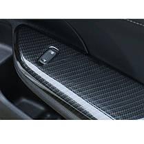4шт ABS Углеродное волокно Стиль Дверь Задняя дверь Стикер крышки для крышки для Honda Civic 2016 2017, фото 3