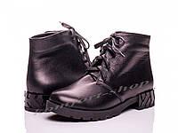 Ботинки женские кожаные  на шнурках V 1129