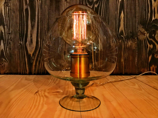 Дизайнерский светильник бокал