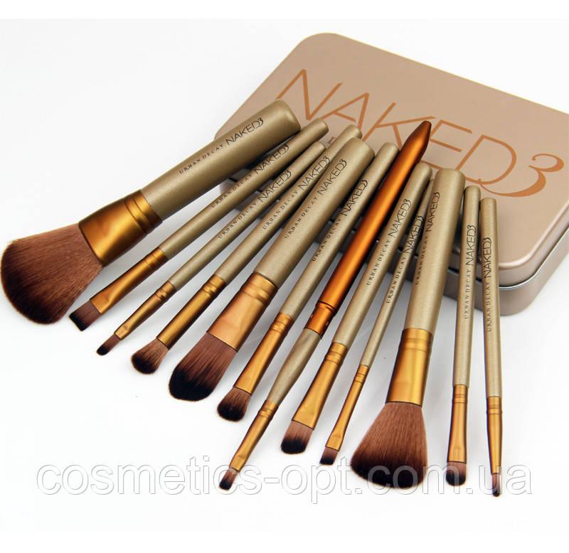 Кисти косметические Naked 3 (12 предметов) (реплика)