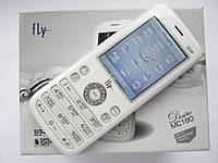 Телефон Fly MC180 Swarovski Zirconia (2 SIM, FM, MP3, GPRS, MicroSD, камера)