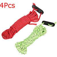 4шт 4м отражательная шнур линии веревки для кемпинга тент палатка брезент Paracord