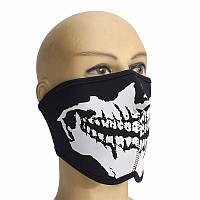 Половина лица маски страшно черепа спортивный байкер обратимым скейтборд мотоцикл