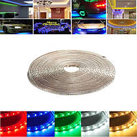 10m 35w водонепроницаемая IP67 SMD 3528 600 LED полоса свет каната рождественской вечеринки на открытом воздухе AC 220V